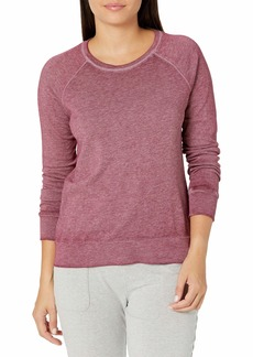 Danskin Women's Long Sleeve Mineral Wash Pullover