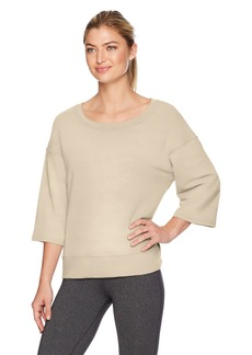 Danskin Women's Lounge Wide-Neck Pullover  L