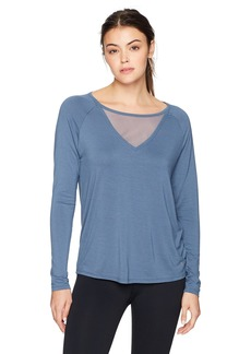 Danskin Women's Mesh Insert Long Sleeve Tee  Extra Large