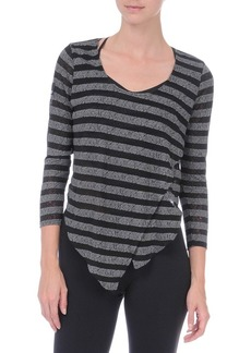 Danskin Women's NYCB Asymmetrical Stripe Cover-Up Top
