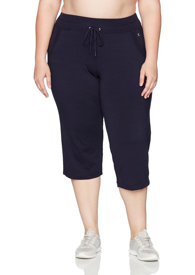 5ee5fa29e12 Danskin Danskin Women s Plus Size Drawcord Crop Pant 2X