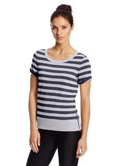 Danskin Women's Striped Crop Pullover Top