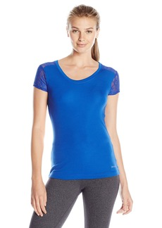 Danskin Women's Warm-Ups Lace Back T-Shirt
