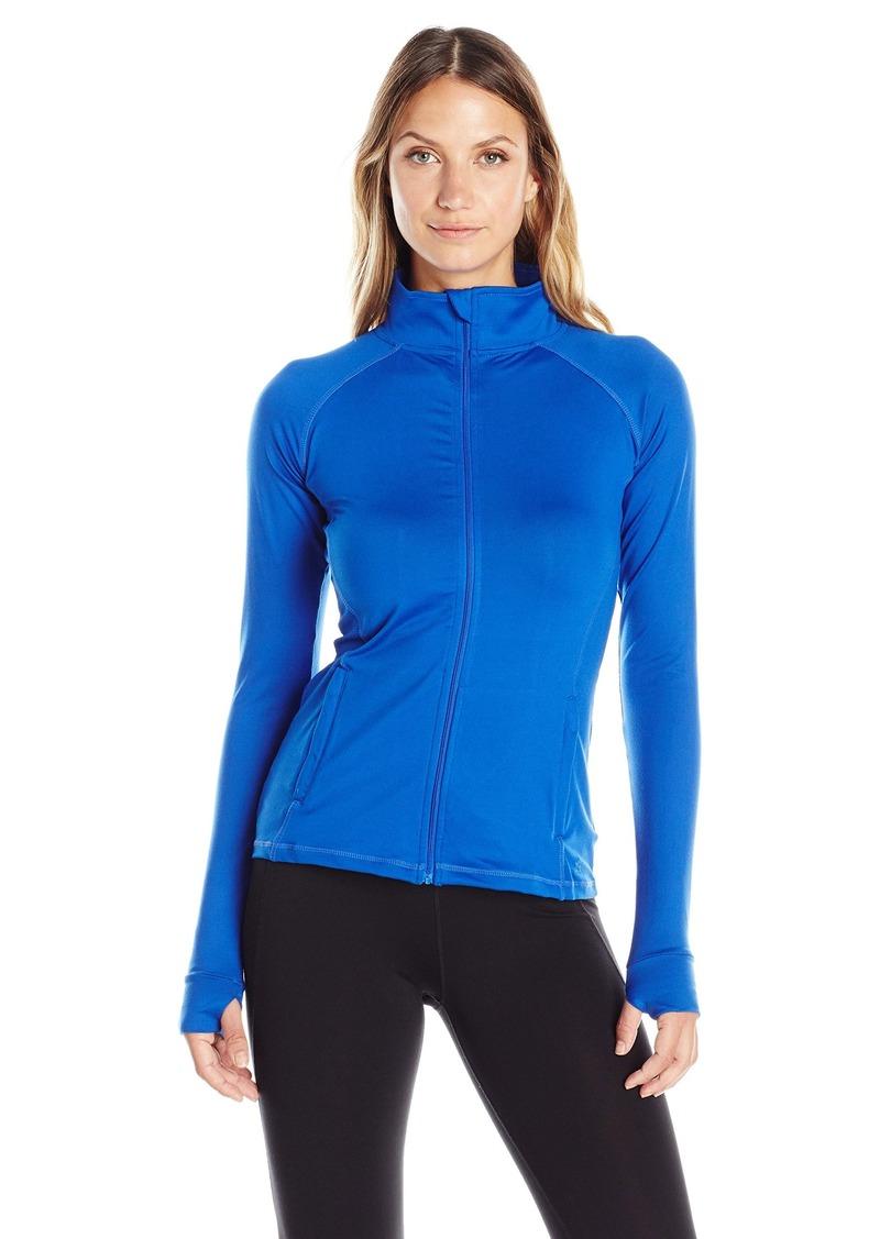 Danskin Women's Warm-Ups Lace Back Zip Front Jacket