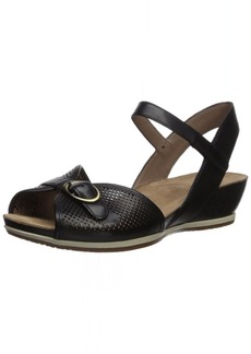 Dansko Women's Vanna Sandal black full grain 41 M EU ( US)
