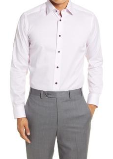 David Donahue Extra Trim Fit Dot Print Dress Shirt