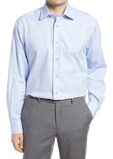 David Donahue Regular Fit Diamond Dobby Dress Shirt