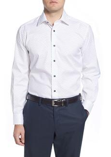 David Donahue Regular Fit Dot Dress Shirt
