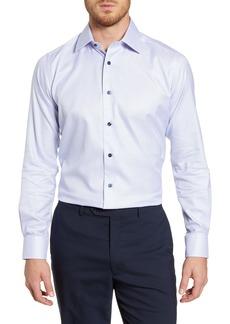 David Donahue Slim Fit Check Cotton Dress Shirt