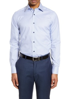David Donahue Slim Fit Floral Dress Shirt