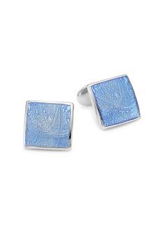 David Donahue Paisley Sterling Silver Cufflinks