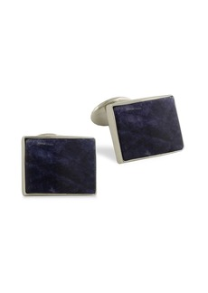 David Donahue Sterling Silver and Sodalite Cuff Links