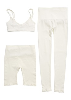 David Lerner 3-Piece Seamless Bralette, Shorts & Leggings Set (Nordstrom Exclusive)