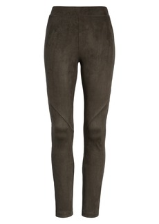 David Lerner Bergen Seamed Faux Suede Leggings