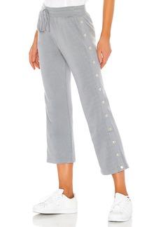 David Lerner Crop Flare Side Snap Lounge Pant