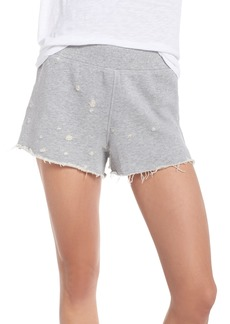David Lerner Distressed Lounge Shorts