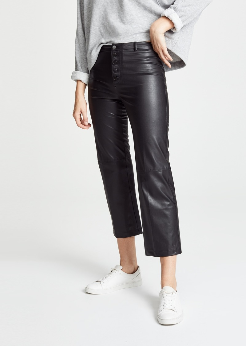 David Lerner Faux Leather High Rise Pants
