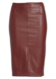 David Lerner Faux Leather Pencil Skirt