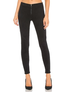David Lerner Front Zip Suede Legging