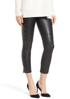 David Lerner Gemma Lace-Up Side Faux Leather Leggings