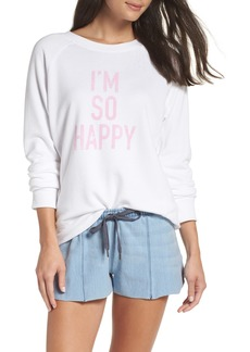 David Lerner I'm So Happy Raglan Pullover
