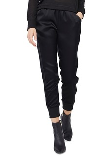 David Lerner Jazmine Slim Jogger Pants w/ Vegan Piping Detail