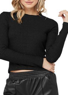 David Lerner Keri Rib-Knit Cropped Top