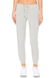 David Lerner Lace Front Track Pant in Gray. - size L (also in M,S)