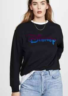 David Lerner Ombre Disney Crew Neck Pullover