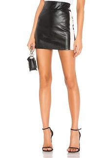David Lerner Side Stripe Mini Skirt