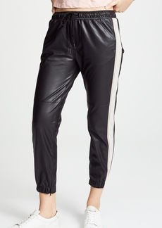 David Lerner Vegan Leather Joggers
