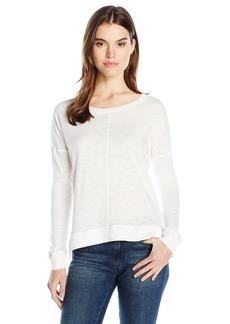 David Lerner Women's High Low Pullover  L