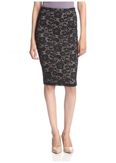 David Lerner Women's Lace Pencil Skirt  XS