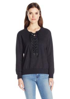 David Lerner Women's Lace up Sweatshirt  L