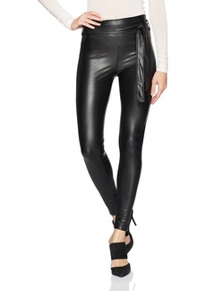 David Lerner Women's Mid-Rise Seamed Belted Legging  L