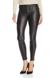 David Lerner Women's Stitched Leather Legging  L