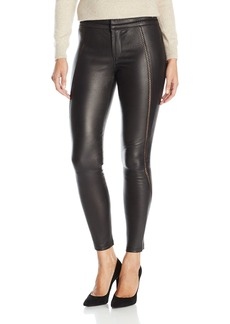 David Lerner Women's Stitched Leather Legging  M