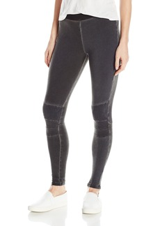 David Lerner Women's Stitched Moto Legging  M