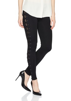 David Lerner Women's X-Cross Lace up Legging  XS