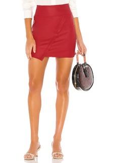 David Lerner X REVOLVE Vegan Leather Wrap Skirt