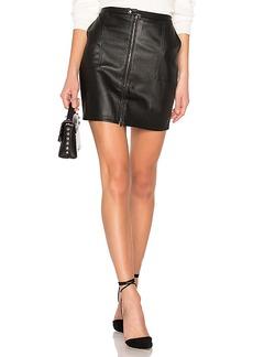 David Lerner Zip Front Cargo Skirt