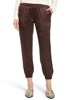 David Lerner Satin Track Pants