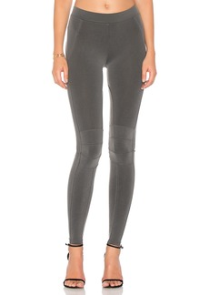 David Lerner Seamed Moto Legging