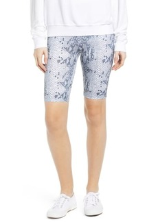 David Lerner Snakeskin Print Bike Shorts
