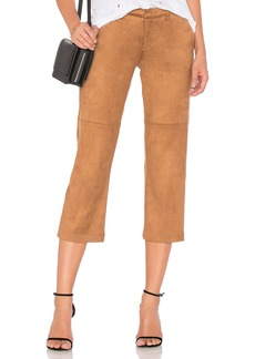 David Lerner Suede Cropped Pant