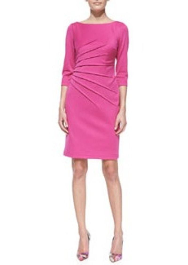 David Meister 3/4-Sleeve Knit Sheath Dress, Pink