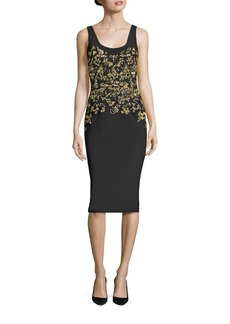 David Meister Beaded Cocktail Dress