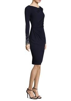 David Meister Beaded Jersey Dress