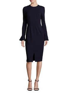 David Meister Bell Sleeve Shift Dress