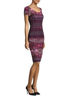 David Meister Border Print Dress